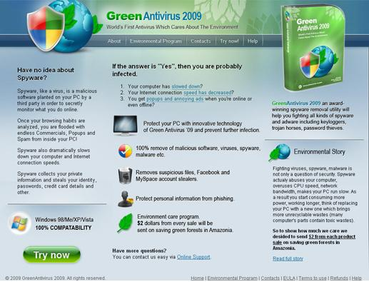 Remove Green Antivirus 2009