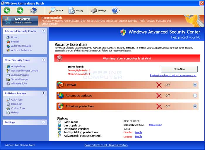 Windows Anti-Malware Patch
